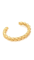 Giles And Brother Oversized Twist Cuff Bracelet Gold