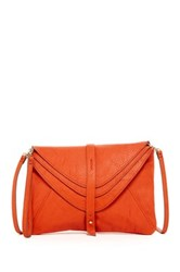 Big Buddha Multi Compartment Flap Crossbody And Wristlet Orange