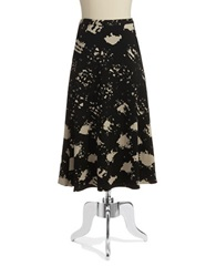 Tracy Reese Patterned Maxi Skirt Black