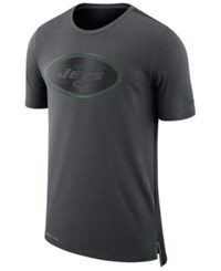 Nike Men's New York Jets Travel Mesh T Shirt Anthracite