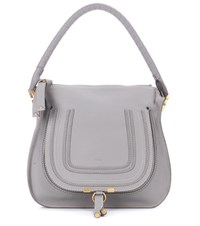 Chloe Marcie Medium Leather Tote Grey