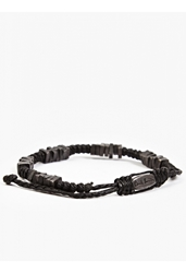 Paul Smith Men's Woven Square Beaded Friendship Bracelet