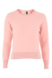 Topshop Boiled Wool Jumper Pale Pink