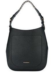 Burberry Eyelets Strap Tote Black