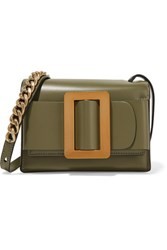 Boyy Fred Small Buckled Leather Shoulder Bag Army Green