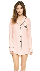 Wildfox Couture Sweet Dreams Sleep Shirt Pink Black