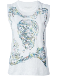 Zadig And Voltaire Skull Print Tank Top