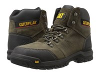 Caterpillar Outline St Dark Gull Grey Work Lace Up Boots Gray