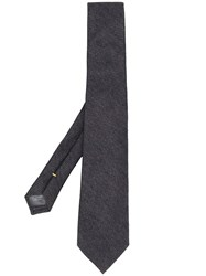 Canali Woven Pointed Tip Tie Grey