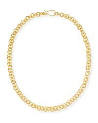 Dina Mackney Hill Tribe Chain Necklace 18 Gold