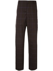 Martine Rose Check Trousers Brown