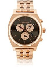 Nixon Time Teller Chrono Watch Red