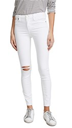 Blank Denim Mid Rise Skinny Ankle Jeans Great White