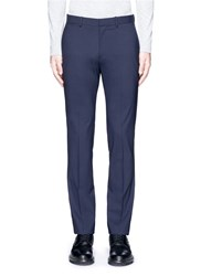 Theory 'Marlo' Straight Leg Stretch Wool Pants Blue