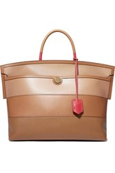 Burberry Smooth And Textured Leather Tote Brown