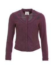 Garcia Fitted Collarless Jacket Purple