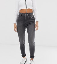 Reclaimed Vintage Inspired The '90 Skinny Jeans In Grey Wash Green