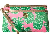 Lilly Pulitzer Toosie Wristlet Pink Pout Flamenco Accessories Wristlet Handbags Green