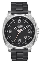 Nixon Men's Charger Bracelet Watch 42Mm Black Silver