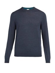 Paul Smith Crew Neck Wool Sweater Mid Blue