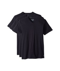 Kenneth Cole Reaction 3 Pack Classic Fit V Neck Tee Black Black Black T Shirt