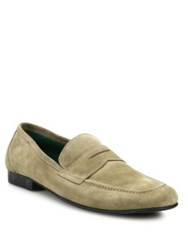 Fratelli Rossetti Portofino Leather Penny Loafers Taupe