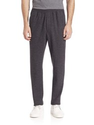 Ami Alexandre Mattiussi Heathered Carrot Fit Wool Blend Trousers Anthracite