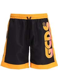 Gcds Huge Logo Tech Shorts Black