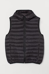Handm H M Lightweight Hooded Vest Black