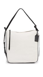 Dkny Canvas Hobo Bag Cream White Black