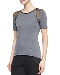 Elie Tahari Clover Tee W Perforated Inset