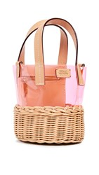 Frances Valentine Small Bucket Natural Pink