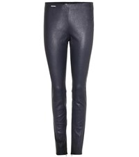 Polo Ralph Lauren Leather Trousers Blue
