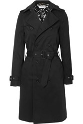 Saint Laurent Gabardine Trench Coat Black