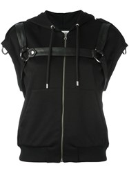 Moschino Sleeveless Harness Hoodie Black