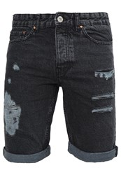 New Look Denim Shorts Black Black Denim