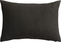 Cb2 Linon Dark Grey 18 X12 Pillow With Down Alternative Insert