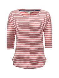 White Stuff Hadley Stripe Jersey Tee Red