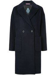 Guild Prime Double Breasted Coat Lambs Wool Blue