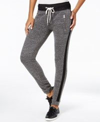 Calvin Klein Performance Tuxedo Striped Jogger Sweatpants Black