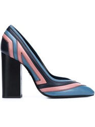 Lanvin Pointed Toe Block Pumps Black