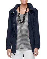 Eileen Fisher High Collar Weather Resistant Utility Jacket Midnight