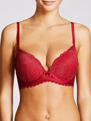 John Lewis Collection By Arabella Luxe Plunge Bra Tomato Red