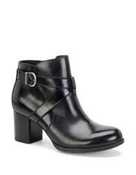 Born Carabel Full Grain Leather Ankle Boots Black