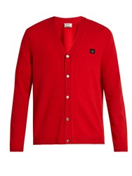 Acne Studios Dasher C Wool Cardigan Red
