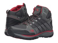 The North Face Litewave Explore Mid Wp Sedona Sage Grey Pompeian Red Men's Hiking Boots Black