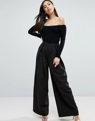 Paper Dolls Palazzo Trousers Navy
