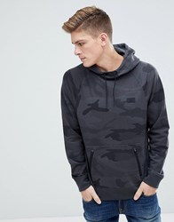 Abercrombie And Fitch Black Label Sport Hoodie In Black Camo Black Camo
