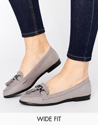 New Look Wide Fit Tassel Loafer Mid Grey