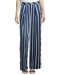 Philosophy Strpied Palazzo Pants Navy White